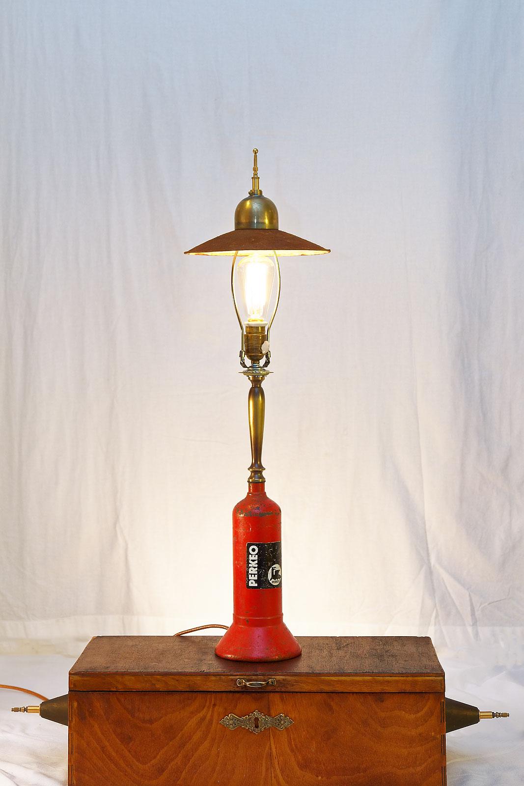 Steampunk table lamp. Vintage. Industrial design. Interior Design.